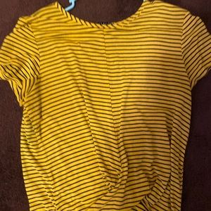 Yellow & black striped shirt